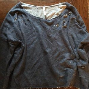 Promesa boutique ripped sweatshirt